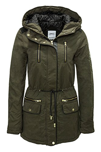 Only Groe Mix Parka donna, parka, verde, Medium EU