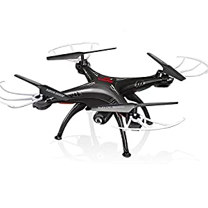 Cheerwing Syma X5SW FPV 2.4Ghz 4CH 6-Axis Gyro RC Headless Quadcopter Drone UFO with HD Wifi Camera (Black)