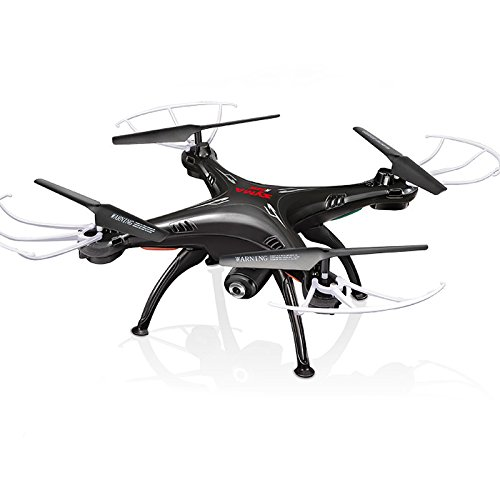 Cheerwing Syma X5SW FPV 2.4Ghz 4CH 6-Axis Gyro RC Headless Quadcopter Drone UFO with HD Wifi Camera (Black)
