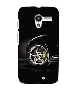 Fuson 3D Printed Car Designer Back Case Cover for Motorola Moto X - D572