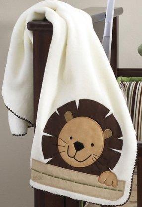 Bedtime Originals Baby Zoo Blanket - Chocolate