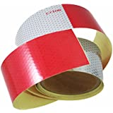 "ABN DOT-C2 2"" X 10' Trailer Conspicuity DOT Reflective Red/White Tape"