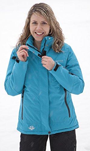Deproc Active Damen Winterjacke und Outdoorjacke Montreal Neues Modell, Turquoise, 54.0, 54631-333-54 -