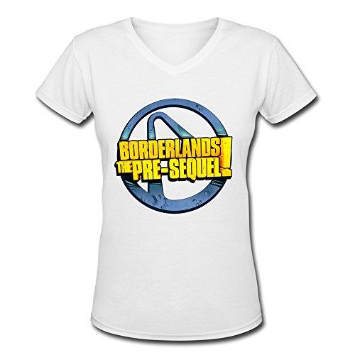 ZhaoHui Cheap Ladys Borderlands Shooter Game Logo V-neck T-shirts L