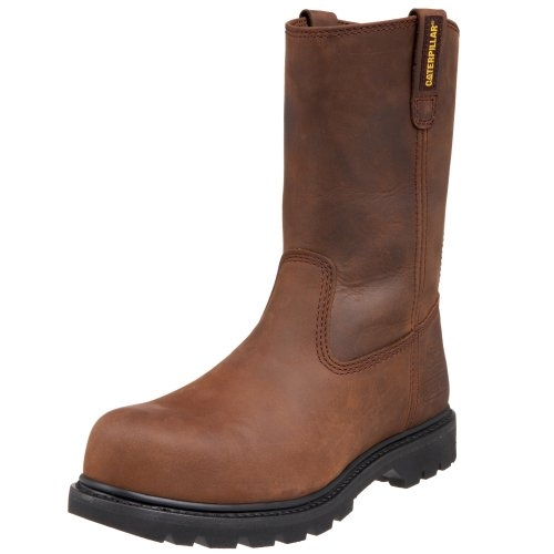 Caterpillar Men's Revolver Pull-On Steel Toe Boot,Dark Brown,8.5 M US
