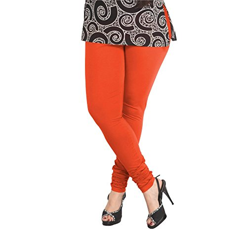 Lux Women Cotton Leggings -Orange-L 17 -Free Size