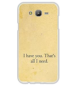 Love Quote 2D Hard Polycarbonate Designer Back Case Cover for Samsung Galaxy On5 (2015) :: Samsung On 5