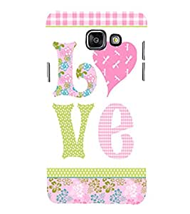 Love is My Boy Friend Cute Fashion 3D Hard Polycarbonate Designer Back Case Cover for Samsung Galaxy A7 (2016) :: Samsung Galaxy A7 2016 Duos :: Samsung Galaxy A7 2016 A710F A710M A710FD A7100 A710Y :: Samsung Galaxy A7 A710 2016 Edition
