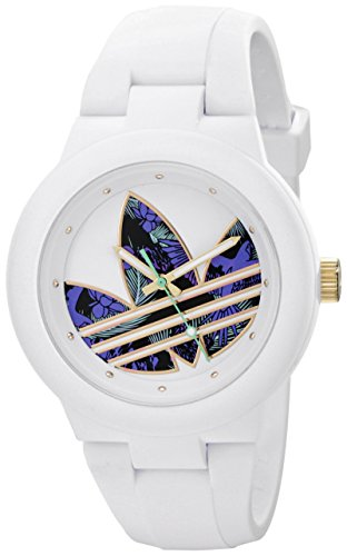 Adidas adh3018 40mm Stainless Steel Case White Silicone Mineral Women's Watch