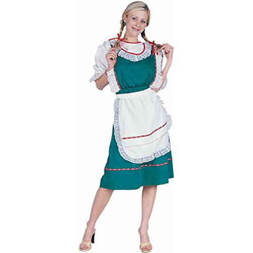 Adult Green Bavarian Dress Halloween Costume (Size: Standard 8-12)