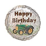 (2) JOHN DEERE TRACTOR BIRTHDAY MYLAR Balloons Green Tractor with Yellow Trim