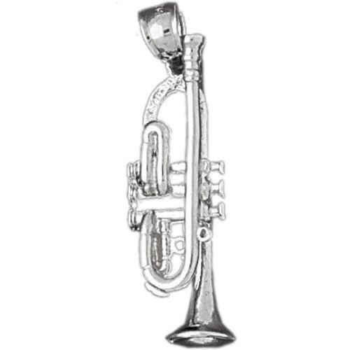 Clevereve's 14K White Gold Charm 3-D Musical Instruments 3.7 - Gram(s)