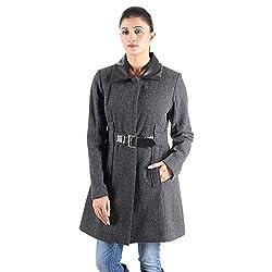 Charcoal wool long coat 1