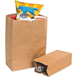 """Grocery Bags, 12"""" x 7"""" x 17"""" Kraft - [PRICE is per CASE]"""