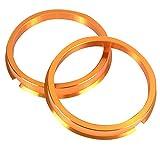 KYO-EI [ 協永産業 ] HUB CENTRIC RING 73mm/56mm 2個入り ツバ付 アルミ製/ゴールド U7356