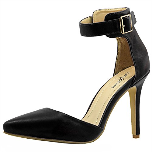 Women's Pointed Toe Ankle Buckle Strap Evening Party Dress Casual Sandal Shoes, 8.5
