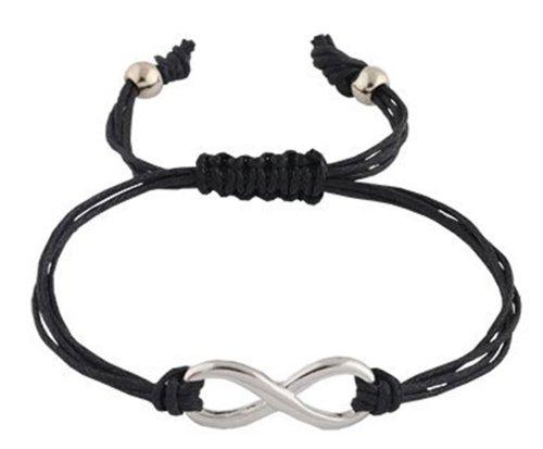 2 Pieces of Black  Silver Infinity Adjustable