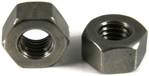 18-8 Stainless Steel Black Oxide Machine Screw Hex Nuts #10//24 - Qty 100 3//8 Flats x 1//8 Thick