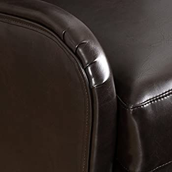 Great Deal Furniture Ellery Brown Leather Wingback Club Armchair