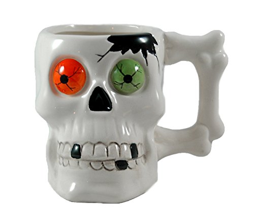 Skeleton Skull Mug - Dolomite Halloween Cup (Scary Halloween Coffee Mugs)