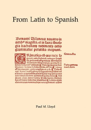 From Latin to Spanish Historical Phonology and Morphology of the Spanish Language Memoirs of the American Philosophical Society