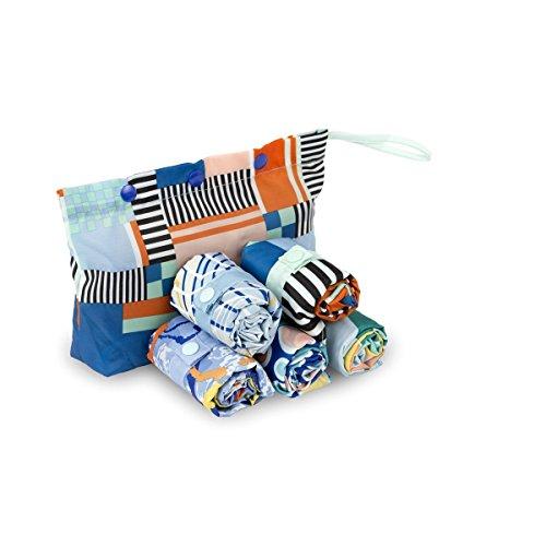 Envirosax BP.P Bondi Pavilion Pouch Reusable Shopping Bags (Set Of 5), Multicolor