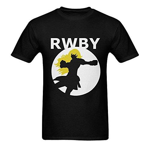 Arnoldo Blacksjd Men's RWBY Xiao Long T-shirt Black Large Medium