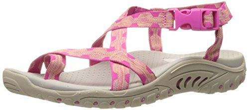Skechers Women's Reggae Haystack Toe Ring Sandal, Fuchsia/Amp; Natural, 9 M US (Women Outdoor Sandals compare prices)
