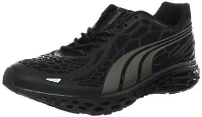 PUMA Men's BioWeb Elite Running Shoe Running Shoe,Black Aged Silver,7.5 D US
