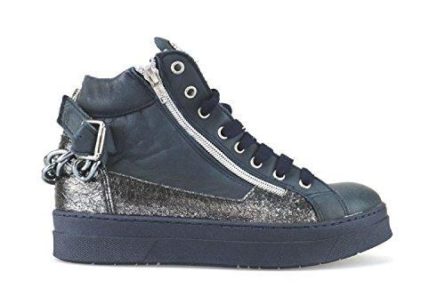 J. K. ACID sneakers donna 38 EU blu argento pelle AJ263