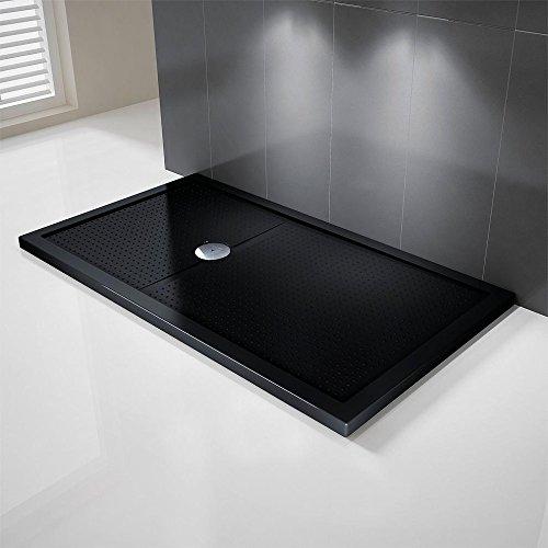 Novellini Olympic Plus Duschwanne, 170x80x4,5cm, schwarz