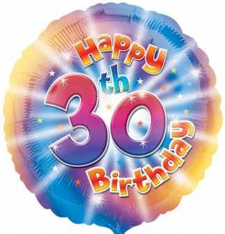 Amscan Happy 30th Birthday Circle Foil Balloon HS40