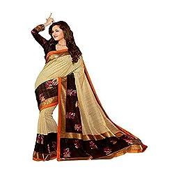Fashion Valley Printed Bhagalpuri Cotton Saree / Sari