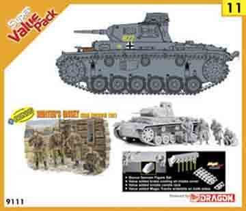 Buy Low Price Dragon Models 1/35 Pz.Kpfw.Iii Ausf.E/F(2 in1) w/Value-Added Brake Cooling Air-Intake Cover, Smoke Candle Rack, Magic Tracks, Bonus German Winter's Onset Figure Set (B002F1RDM0)