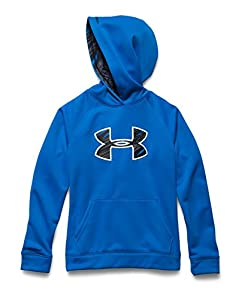 Under Armour Youth Boys Fleece Storm Big Logo Hoody, Blue Jet/Black, Large