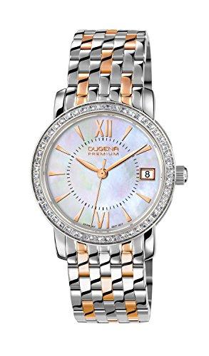Dugena  Dugena Premium - Reloj de cuarzo para mujer, con correa de acero inoxidable, color multicolor