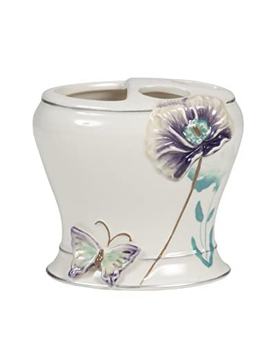Creative Bath Garden Gate Toothbrush Holder, Lilac