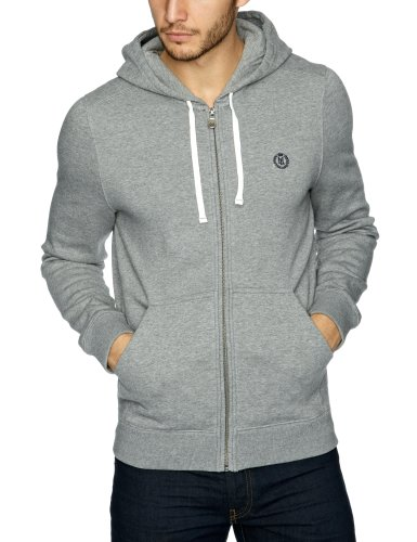 Henri Lloyd Leeward Hooded Full Zip Men's Sweatshirt Grey Marl Small