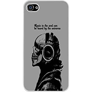 Casotec Music Design Hard Back Case Cover for Apple iPhone 5 / 5S