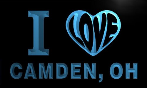 v62976-b I Love CAMDEN, OH OHIO City Limit Neon Light Sign