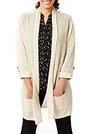 Open Front Longline Cardigan with Linen [T38-2846-S]