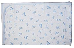 Kissy Kissy Baby-Boys Infant My First Friends Print Receiving Blanket-White With Blue-One Size