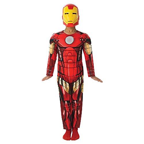 Iron Man Deluxe Kinder Kostüm Overall und Maske Gr.M
