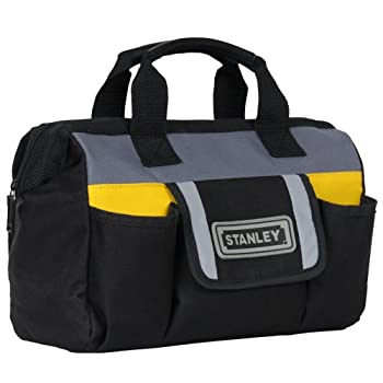 The Stanley STST70574 12-Inch Tool Bag is ideal for carrying hand tools and other small to medium-sized items. The adjustable strap allows for easy access to contents. A rubber foam bottom keeps bag sturdy and helps protect contents from hard falls, ...