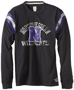 Buy NCAA Northwestern Wildcats Mens Originals L S Applique Crew (Black) by adidas