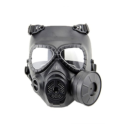 VILONG Airsoft Paintbal Dummy Gas Mask Fan for Cosplay Protection Zombie Soldiers Halloween Masquerade Resident Evil Antivirus Skull (black) (Airsoft Gas Mask compare prices)