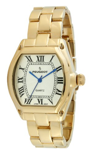 Peugeot Women's 7069G Gold-Tone Roman Numeral Bracelet Watch