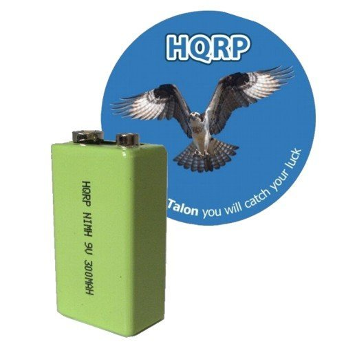 HQRP 9V 300 mAh NiMH 9-Volt Rechargeable Battery