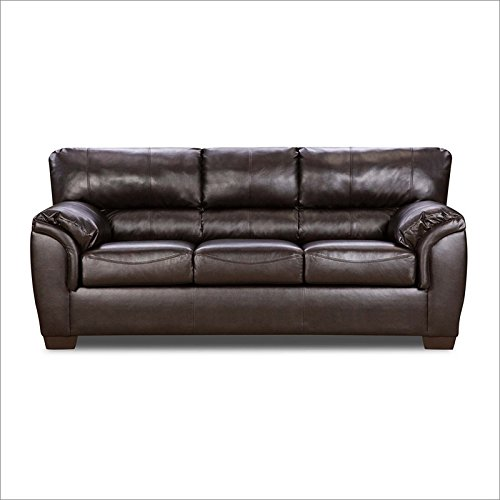Simmons Upholstery 1797-03 London Walnut Bonded Leather Sofa front-744610
