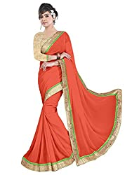 Sonani Women's Georgette Disigner Paety Wear Sarees with Blouse Piece (new pich23565)
